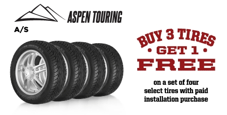 Buy 3 Aspen Touring A/S Tires Get 1 Free