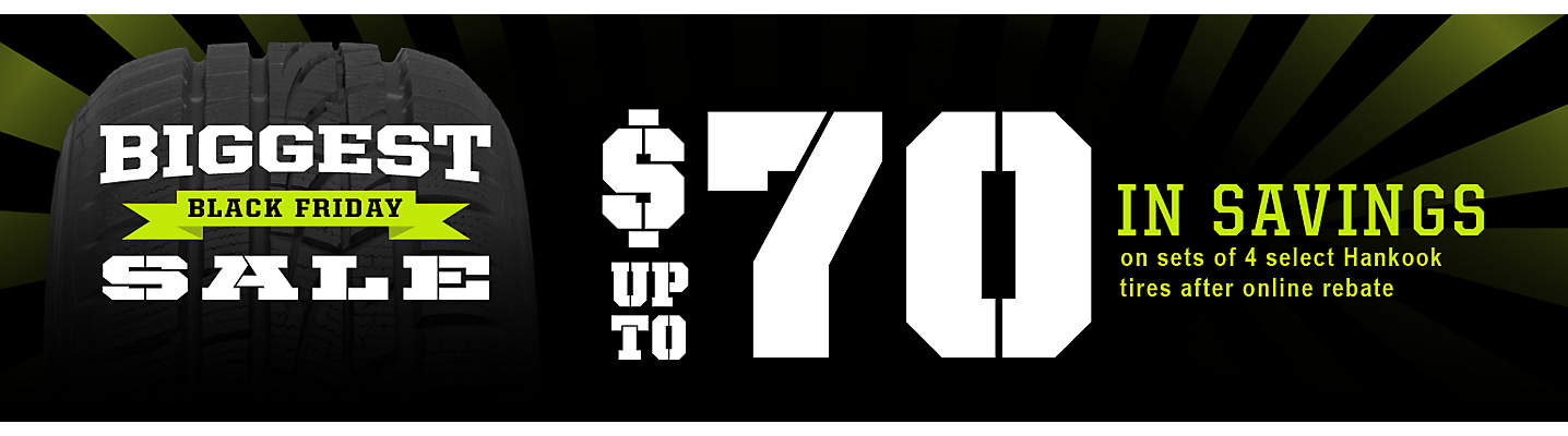 Hankook Up to $70 online rebate