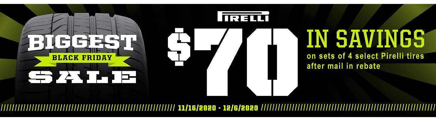 Pirelli $70 Mail-in Rebate