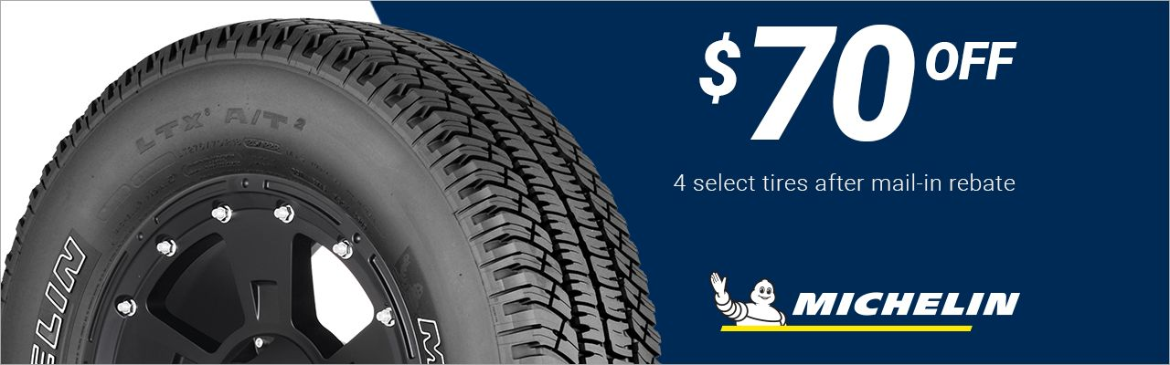 $70 back on 4 select Michelin® tires!