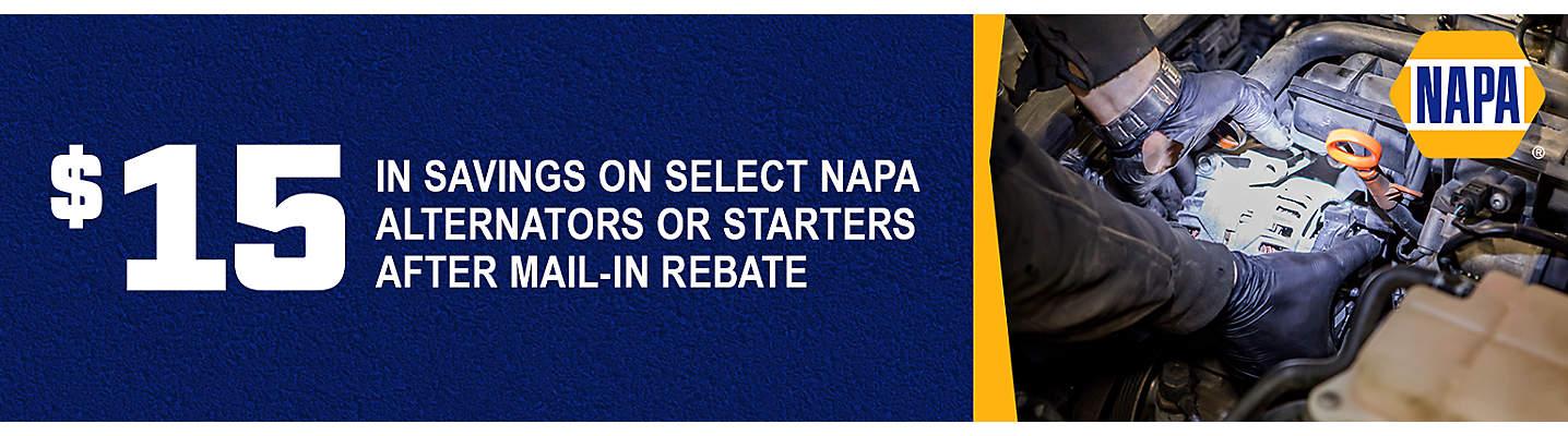 NAPA $15 mail-in rebate