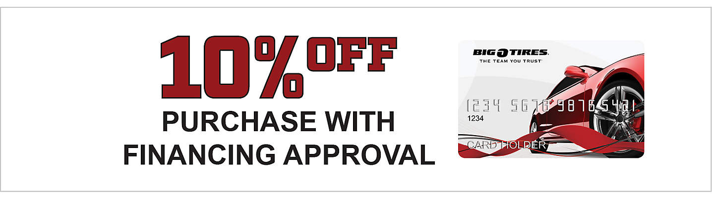 10% off Purchase with Financing Approval