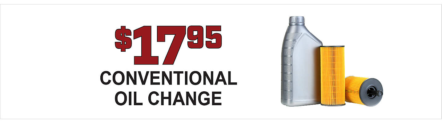 $17.95 Conventional Oil Change