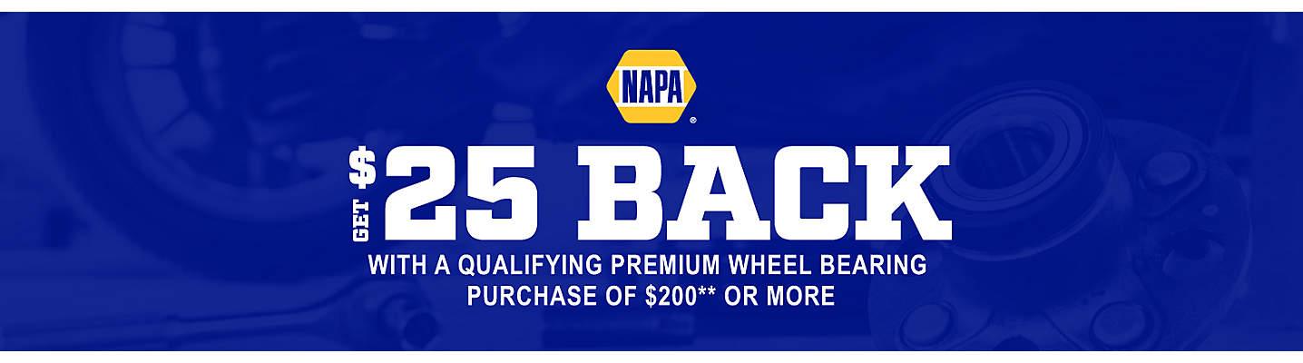 NAPA Wheel Bearing $25 Rebate