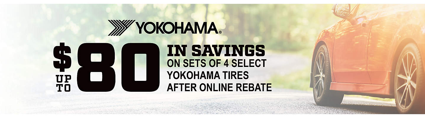 Yokohama Up to $80 online rebate