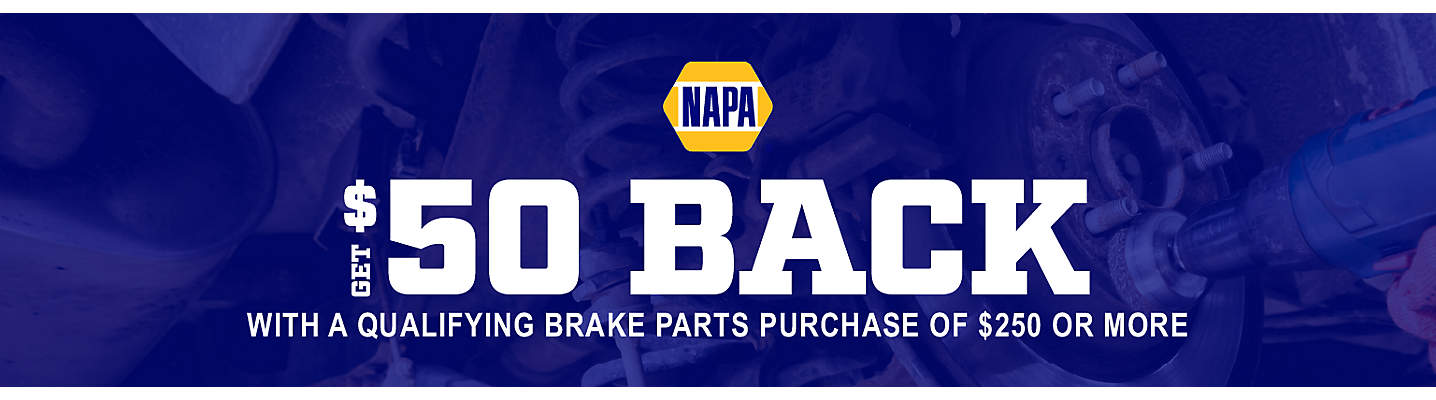 NAPA $50 Brake Mail-in Rebate