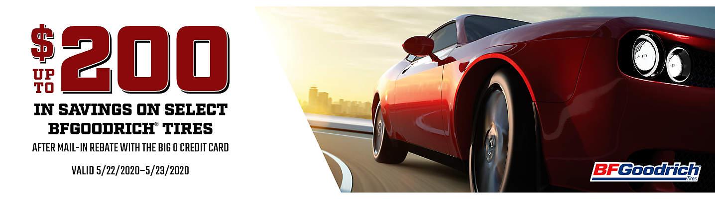 $150 BFGoodrich Rebate Tire Savings