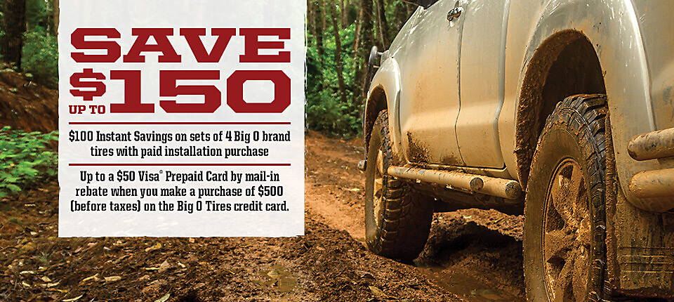 150 savings tire sale