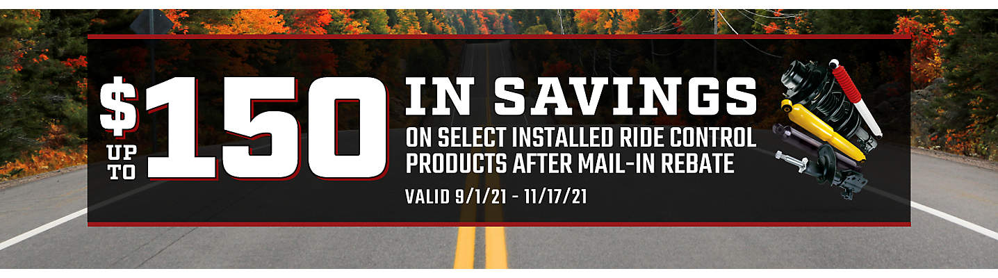 Ride Control up to $150 Mail-in Rebate