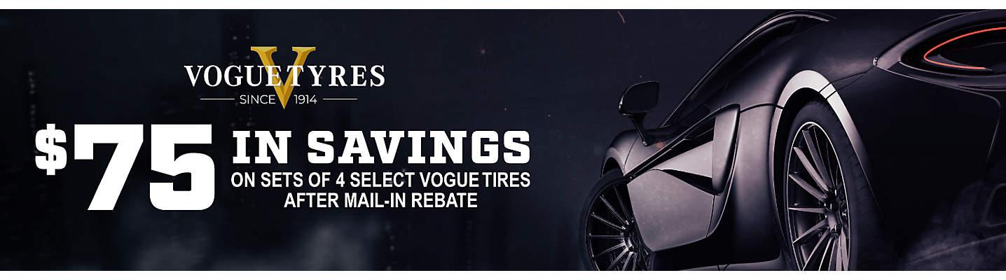 $75 Vogue Tyre Visa Prepaid Card