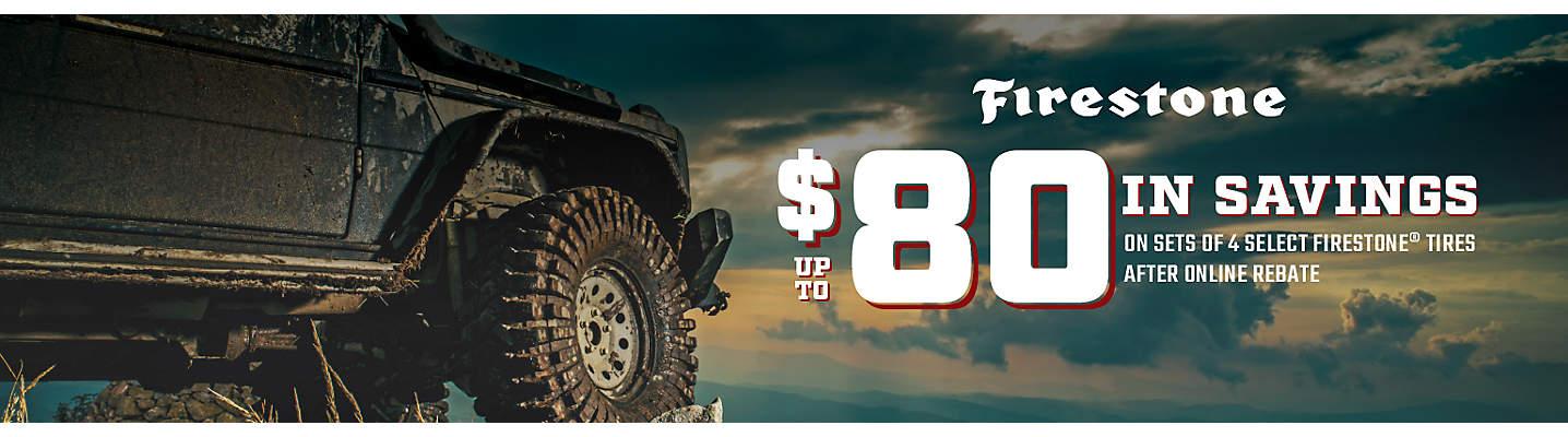 Firestone Up to $80 Online Rebate