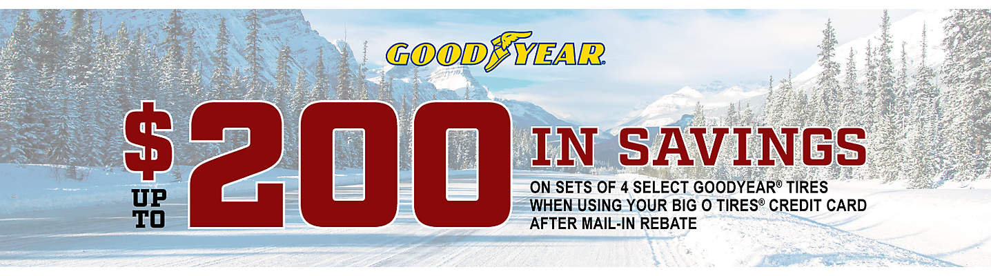 Goodyear Up to $200 Mail-in Rebate