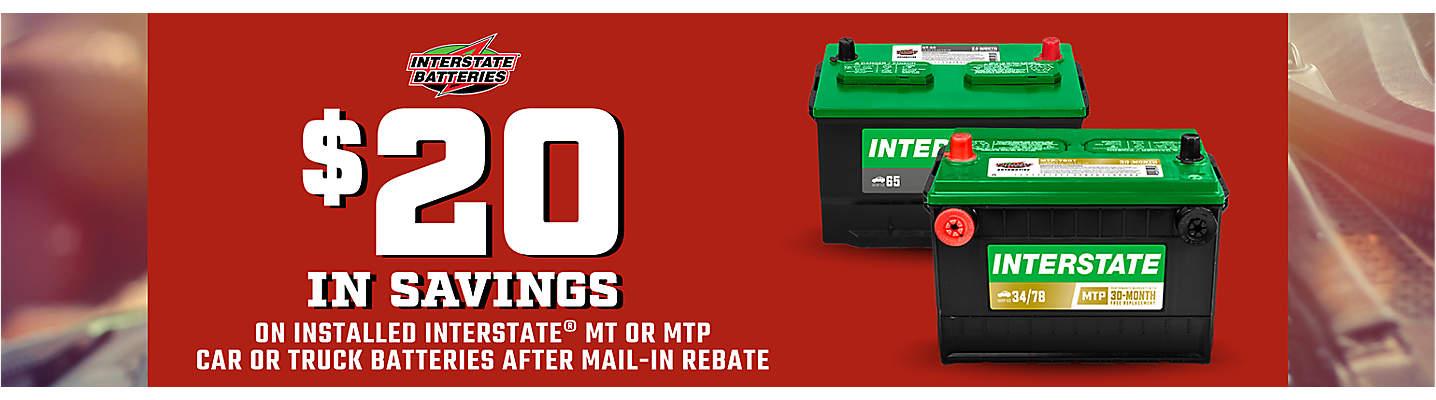 Interstate Battery Mail-in Rebate