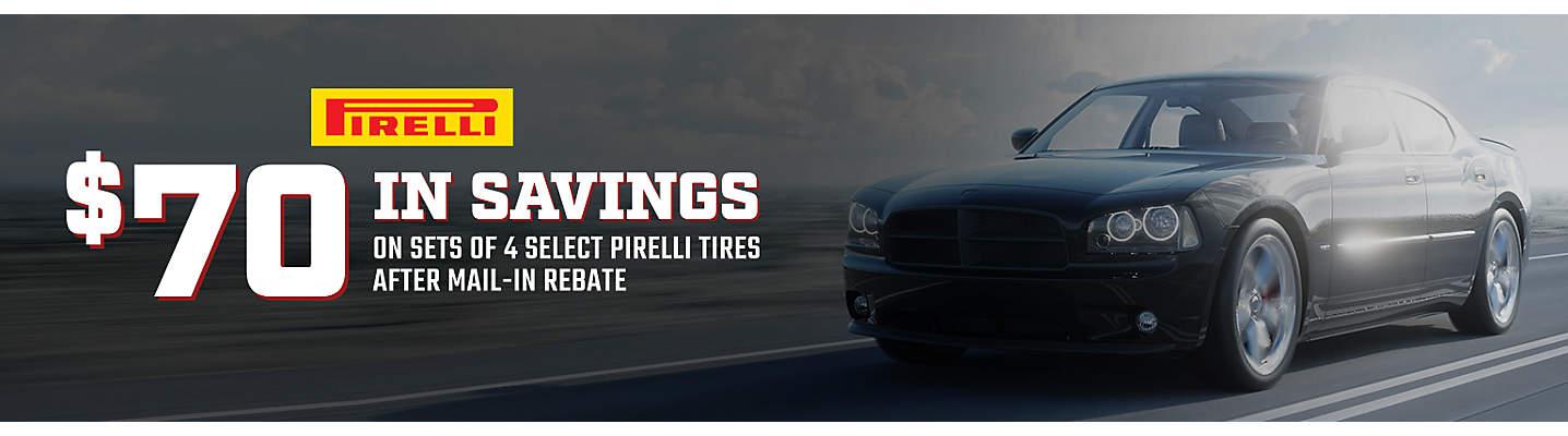 Pirelli $70 Online Rebate