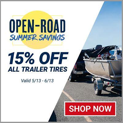 15% Off All Trailer Tires. Offer valid 5/13/21 - 6/13/21.