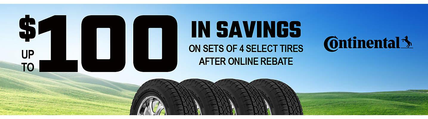 Continental up to $100 Online Rebate