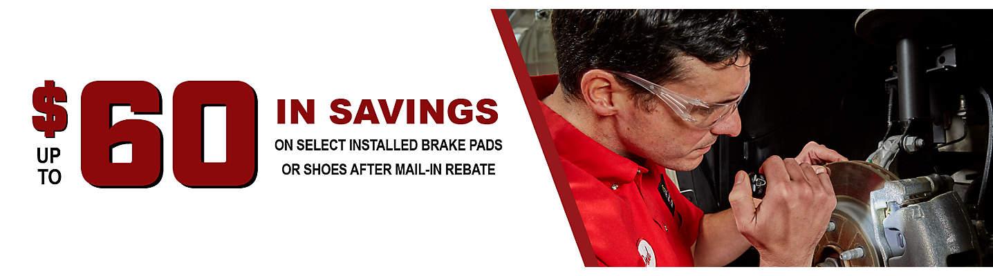 Up to $60 Brake Mail-in Rebate