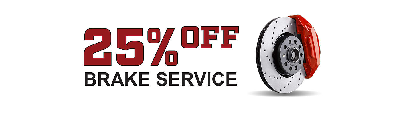 25% OFF All Brake Service up to $150