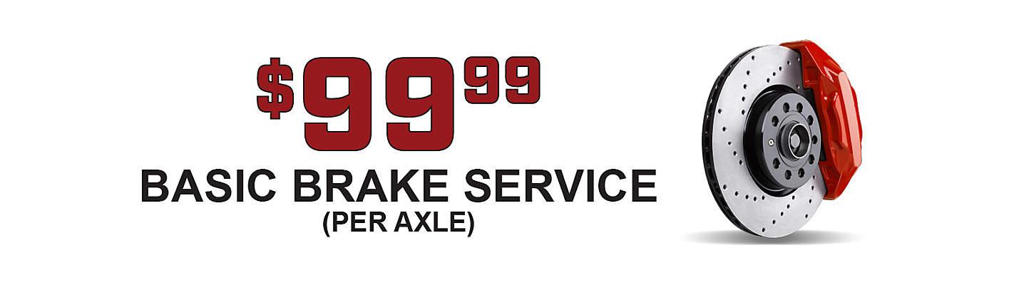 Basic Brake Service – only $99.99! (per axle)