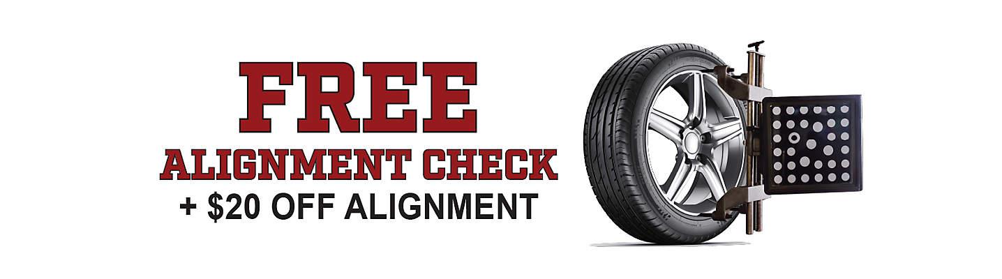 Free Alignment Check Plus $20 Off Alignment