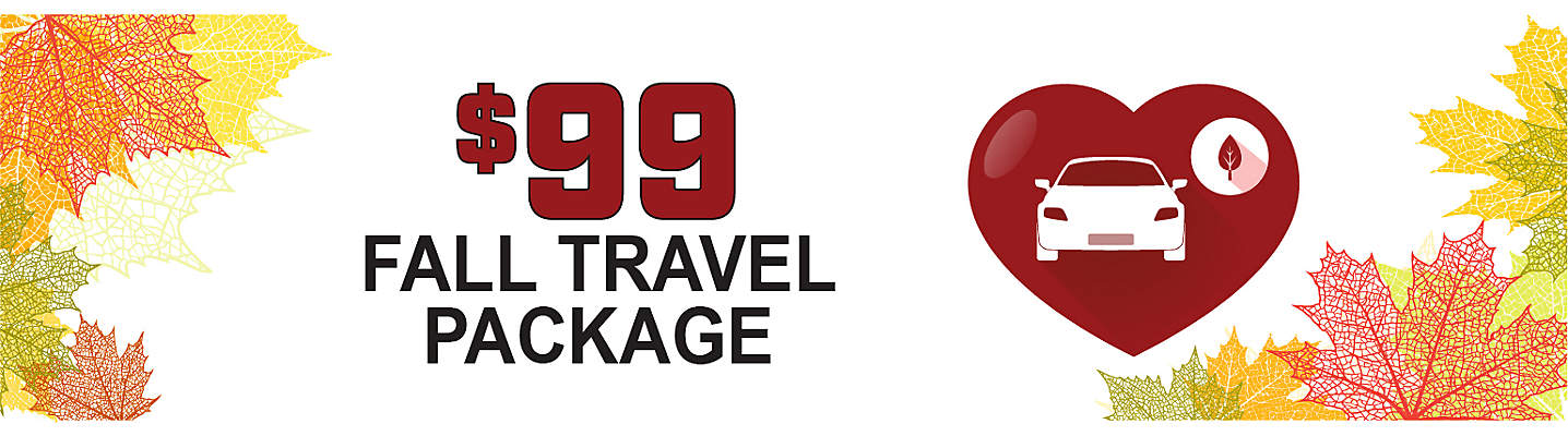 Fall Travel Package - Only $99