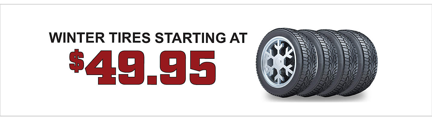 Winter Tires starting at $49.95 per tire