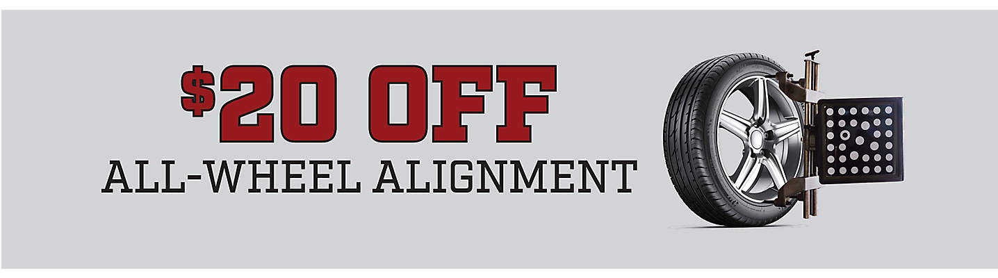 20 Off All-Wheel Alignment