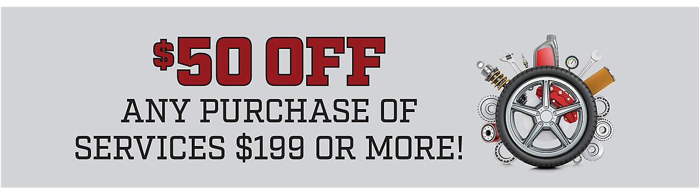 $50 Off Any Purchase Of Services $199* Or More!