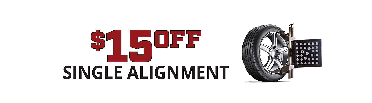 $15 Off Single Alignment