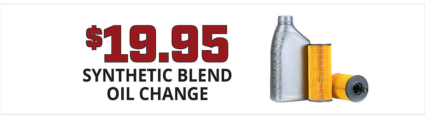 $19.95 Synthetic Blend Oil Change