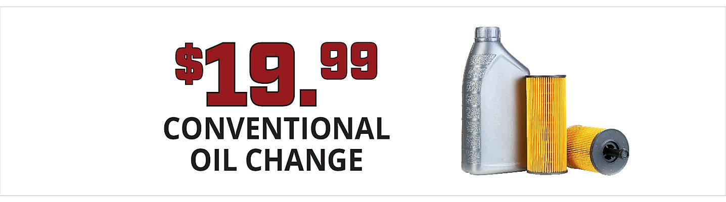 $19.99 Standard Oil & Filter Change