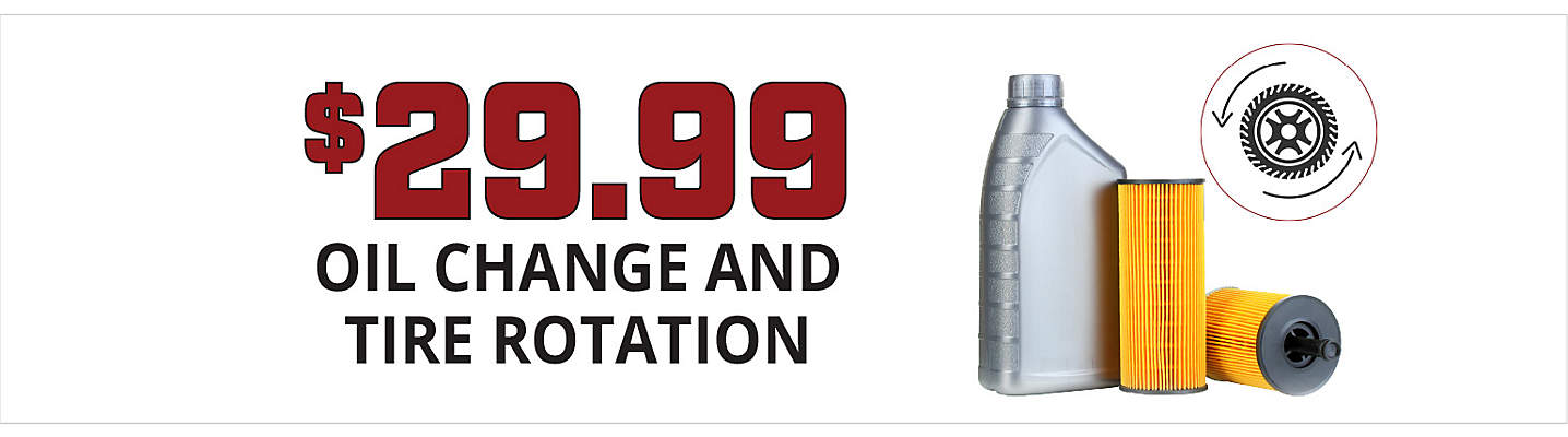 $29.99 Oil Change and Tire Rotation