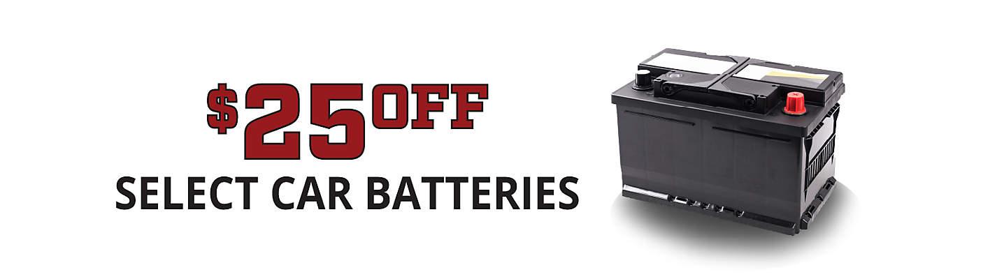 $25 Off Select Car Batteries