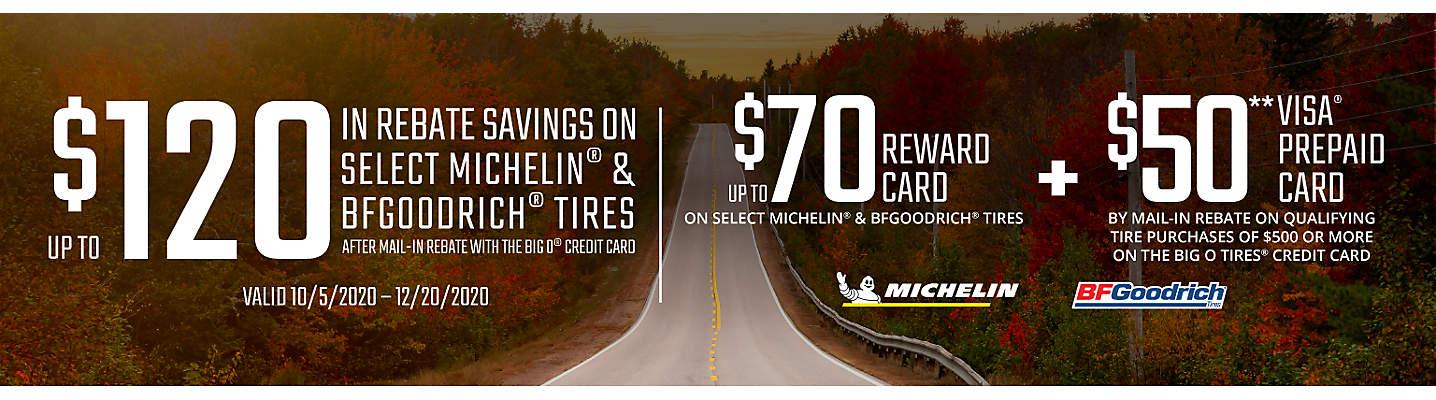 MICHELIN & BFGOODRICH Rebate Tire Savings