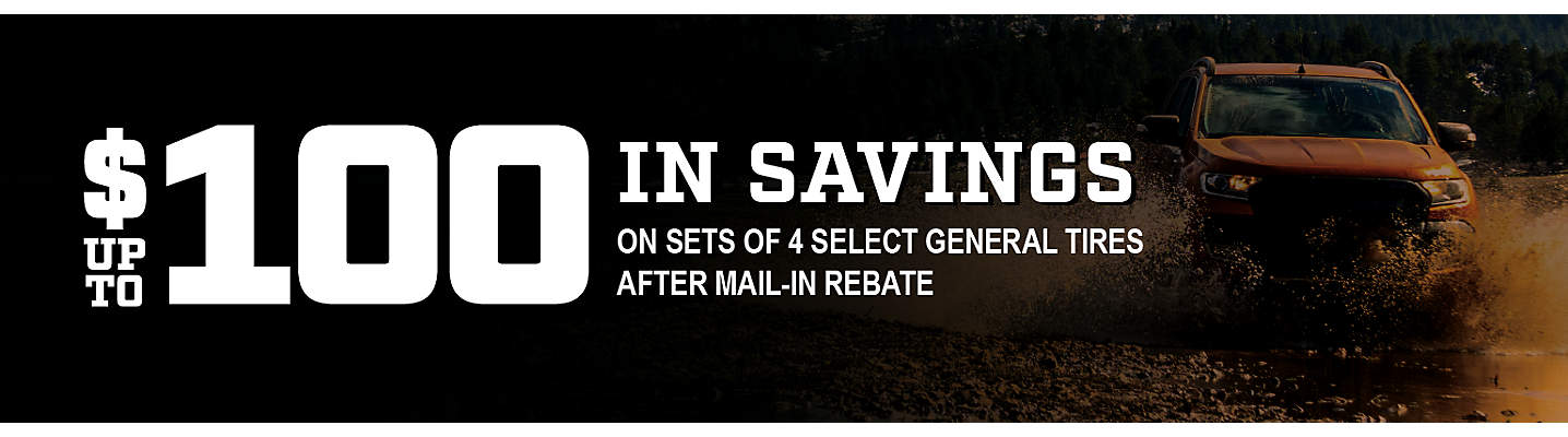General Tire Up to $100 Mail-in Rebate