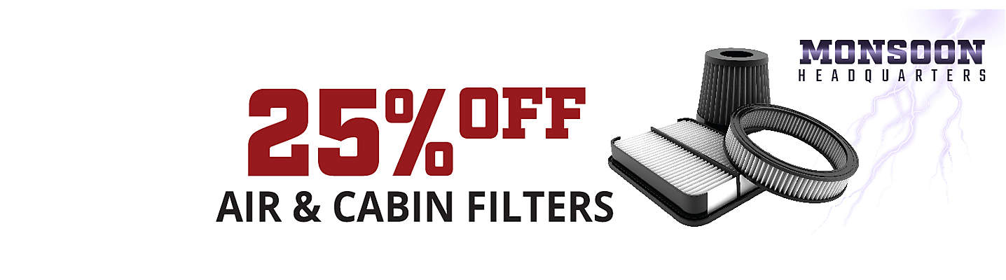 Monsoon HQ 25% off Air & Cabin Filters