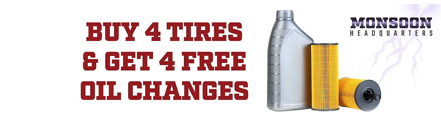 Monsoon HQ Buy 4 Big O Tires, Get 4 FREE Oil Changes