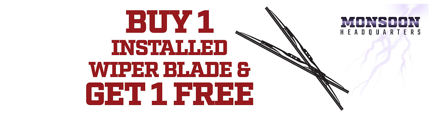 Buy one installed wiper blade Get 1 FREE!