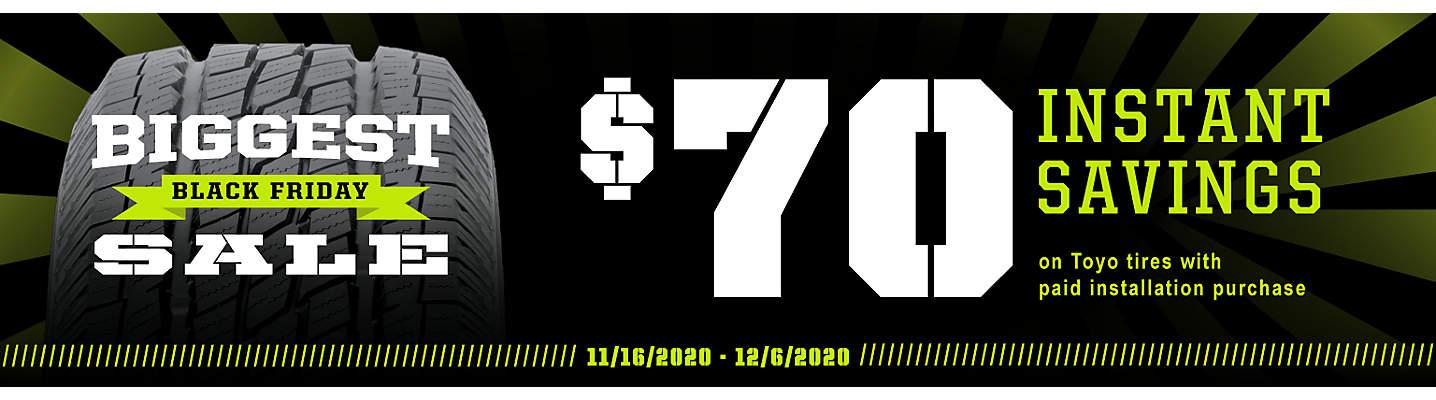 $70 Toyo Instant Savings