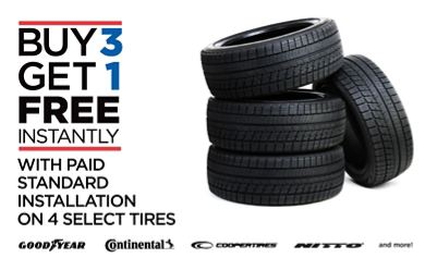Buy 3 Get 1 Free Tires >> Tire Kingdom Tires Routine Auto Maintenance