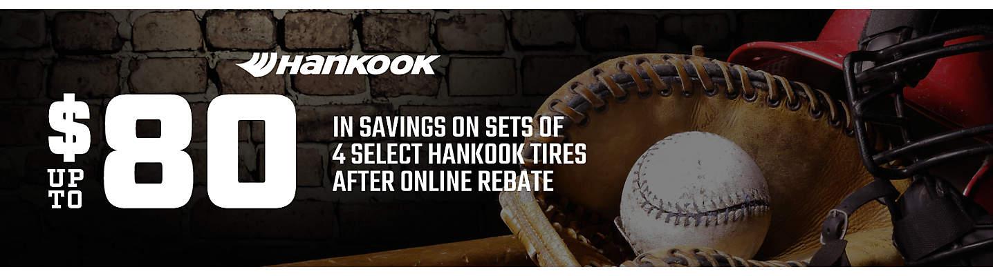 Hankook Up to $80 online rebate
