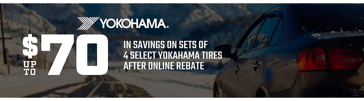 Yokohama Up to $70 online rebate