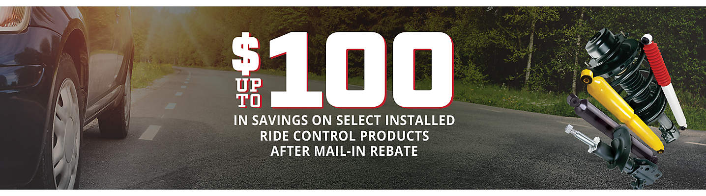 Ride Control up to $100 Mail-in Rebate