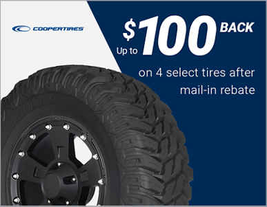 Up to $100 back on 4 select Cooper® tires!