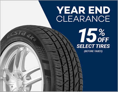 15% Off Select Tires!
