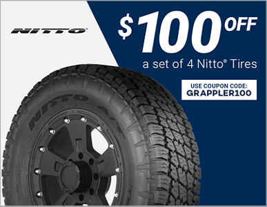 $100 Off 4 Select Nitto Tires!