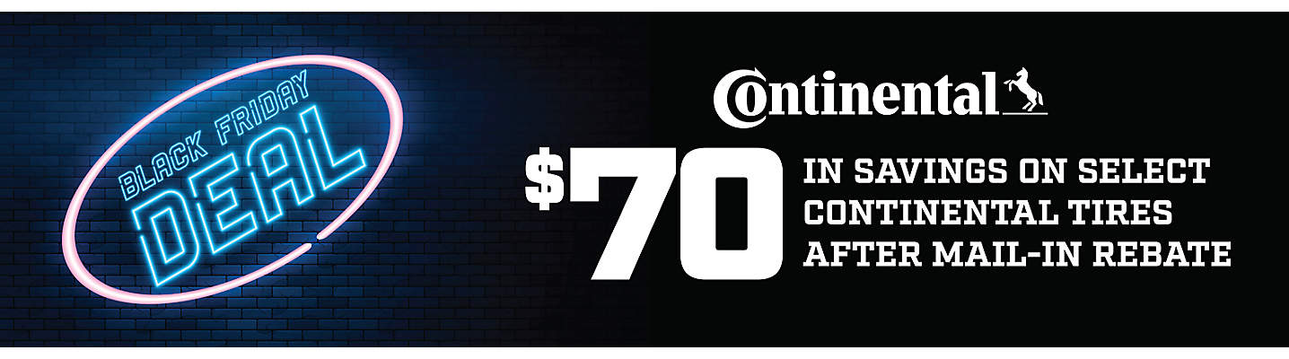 Continental $70 Mail-in Rebate
