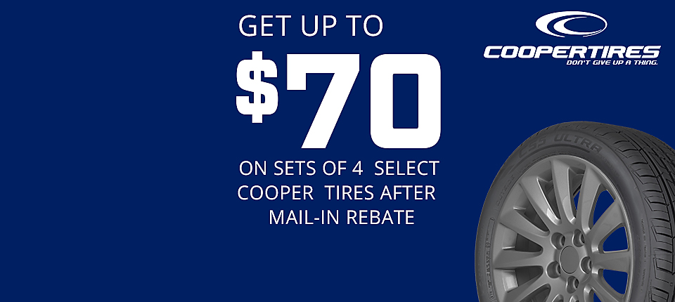 Cooper Tires Up to  $70 Mail In Rebate