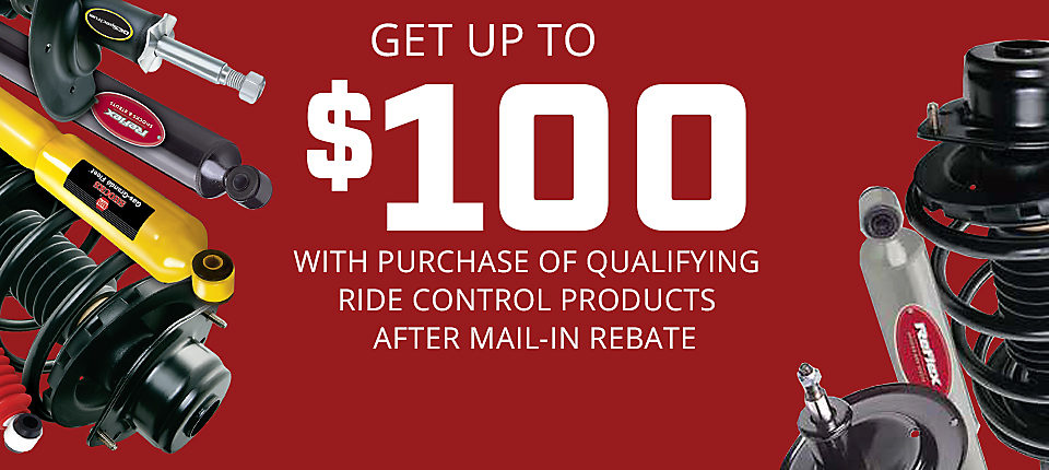 Tenneco Ride Control Mail-in Rebate