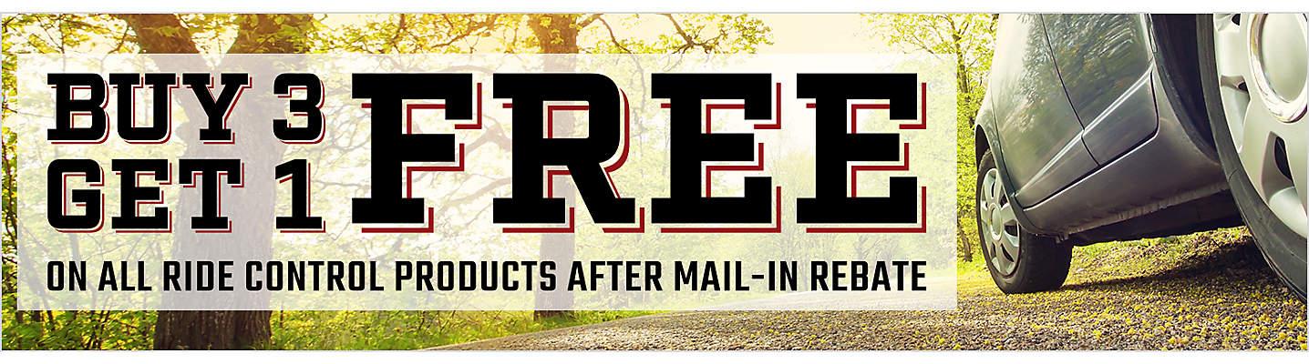 Buy 3 Get 1 Free Ride Control Mail-in Rebate